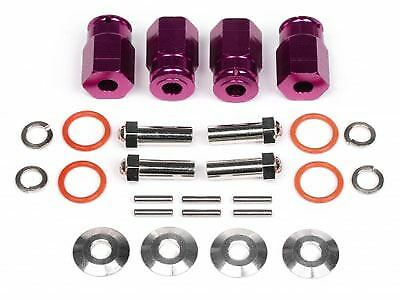 HPI Racing -  Aluminum Wide Hex Hub, 12mm, 24mm Wide, viola, rueday re (Opt)  wholesape economico