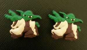 2 X Star Wars Yoda Cocodrilo Shoe Charms Clon Crocs Jibbitz pulseras