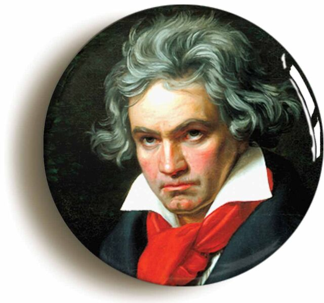 LUDWIG VAN BEETHOVEN BADGE BUTTON PIN (1inch/25mm diameter) CLASSICAL MUSIC