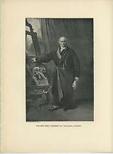 ANTIQUE BENJAMIN WEST AT EASEL PRESIDENT OF ROYAL ACADEMY LONDON ARTIST PRINT