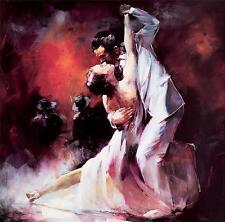 "Final_tango.. ART PITTURA. riproduzione. Modern box-canvas 20 ""X 20"""