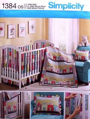BABY QUILT*NURSERY ACCESSORIES Sheets Pillow Simplicity PATTERN 1384