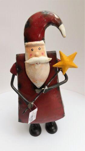Santa Metall schöne Weihnachts Deko Merry-x-mas 29 x 9 x 13 cm
