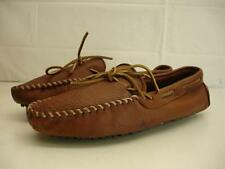 mens 11 Minnetonka Moccasin Moosehide Moose Driving brown loafers slippers shoes