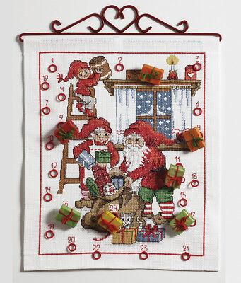 1x Cross Stitch Kit Christmas Gifts Calendar Sewing Craft Tool Hobby Uk