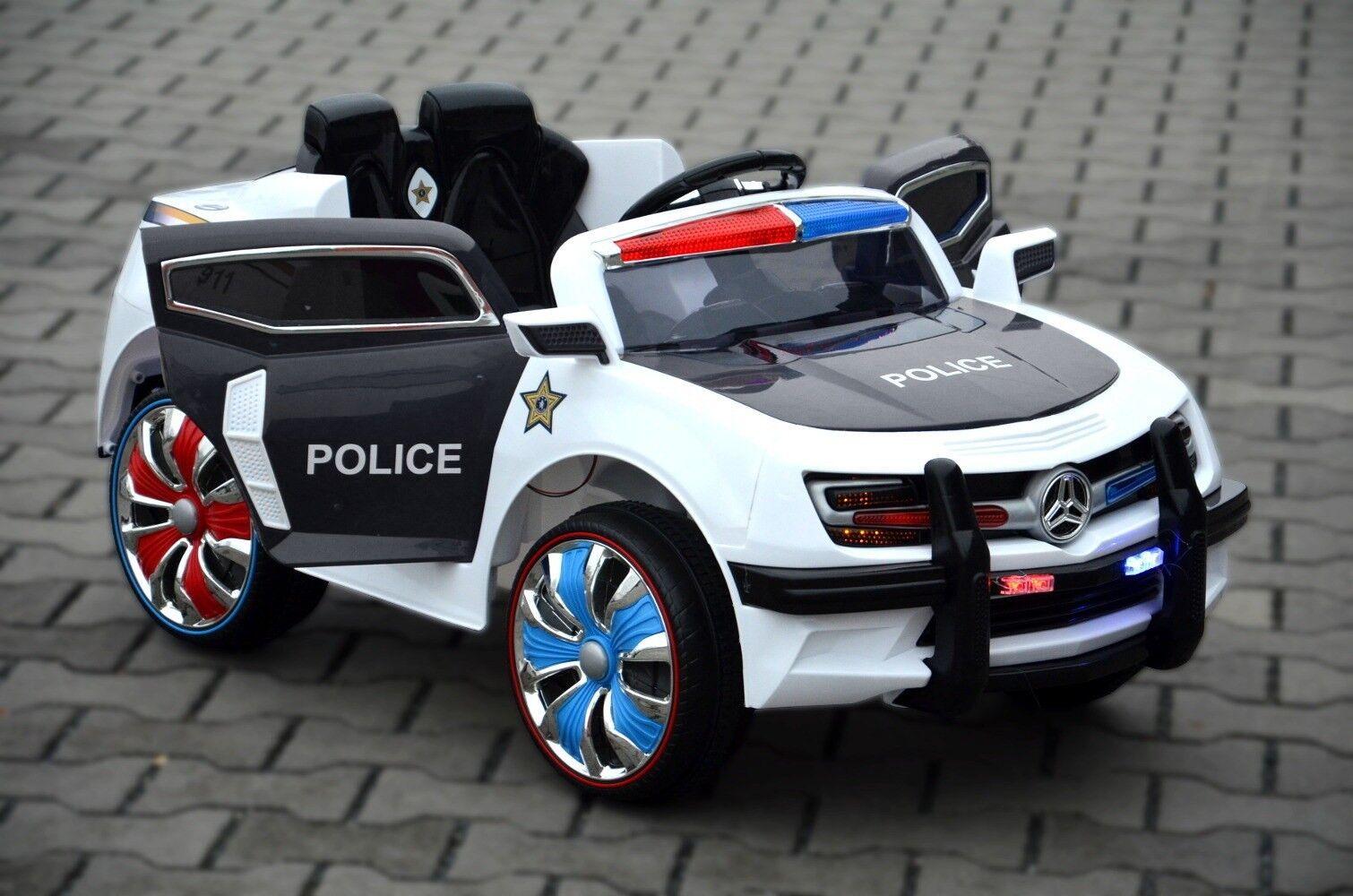 Kinderfahrzeug - Elektro Auto  Polizei Design  - 12V7AH 12V7AH 12V7AH Akku 2 Motoren 424046