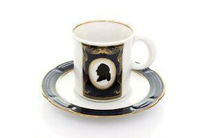 Thueringer-Weimar-Porcelain-Echt-Cobalt-Vintage-Mocha-Coffee-Espresso-Cup
