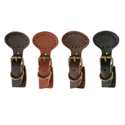 2 Sets Sew on Leather Magnetic Snap Buckles Sewing Fasteners for Bag Black