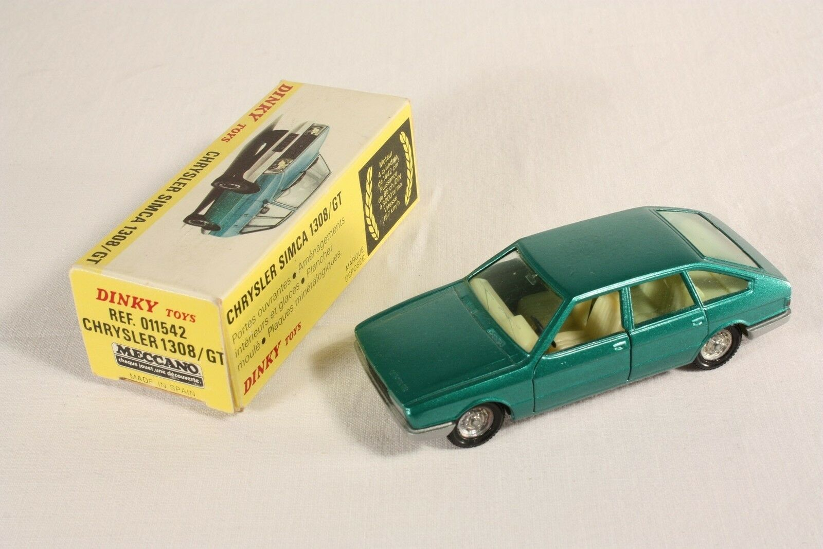 DINKY TOYS 011542, Chrysler Simca 1308 GT, Comme neuf Dans Box  ab558
