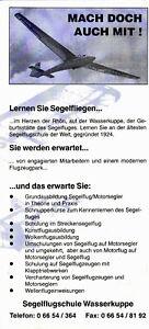 Wasserkuppe Segelflugschule Gebührenordnung 1995 Faltblatt