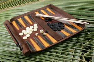 Leathersafe-Rouler-amp-Jouer-Packgammon-Backgammon
