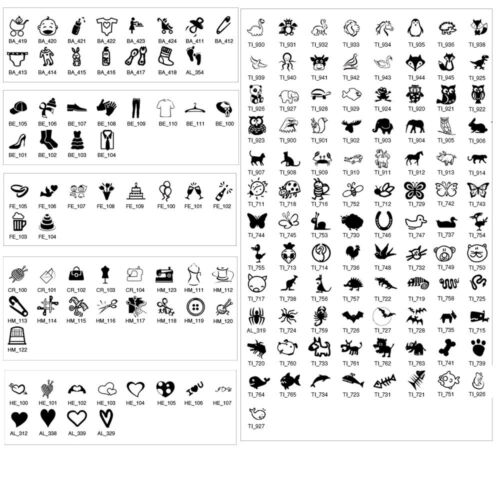 Bedruckte Textiletiketten Labels mit Ihrem Text /& Symbol 7,0 x 1,5 cm weiß