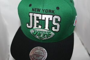 12de5e2e855de9 New York Jets NFL Mitchell & Ness Solid/Logo Snapback,Hat,Cat ...