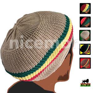 31bf261d0 Rasta Dread Dreadlocks Tams Hat Beret Hippie Cap Reggae Marley ...