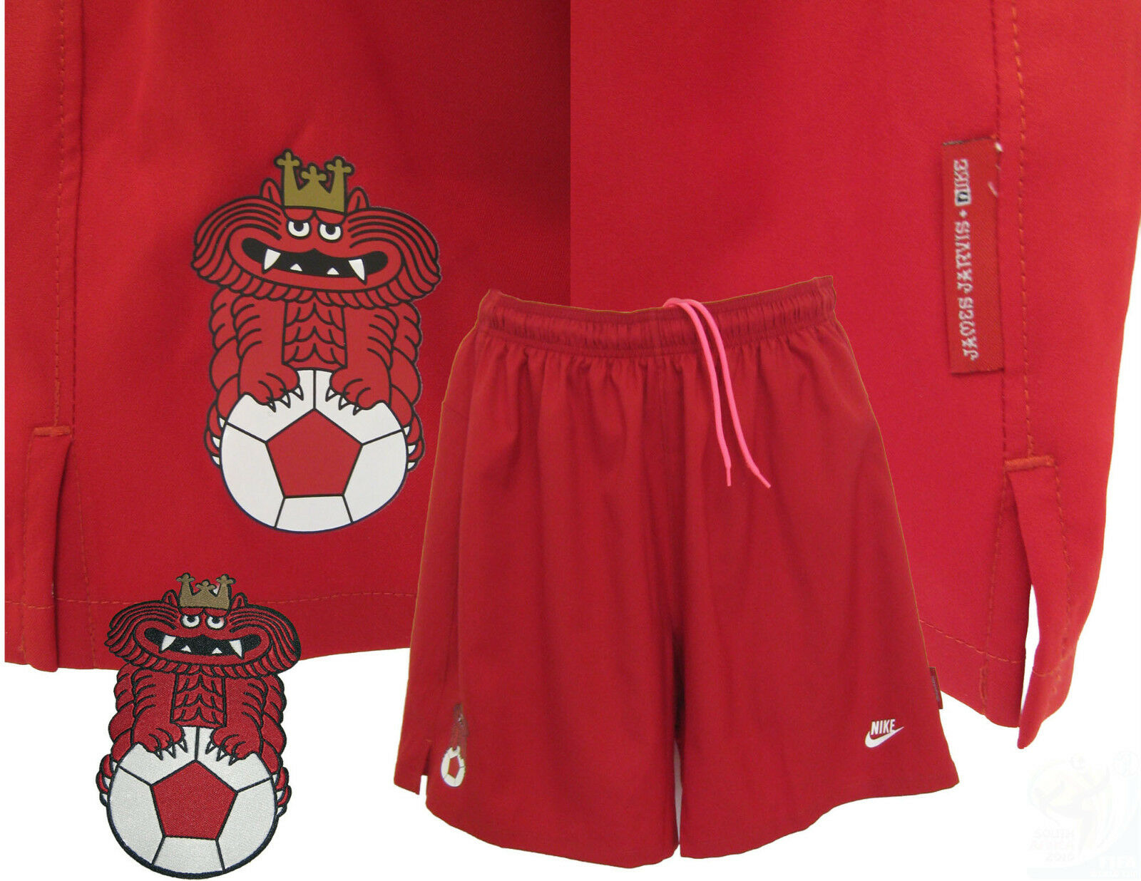 Rare New NIKE ENGLAND Football Training Shorts Jarvis Colab Red M