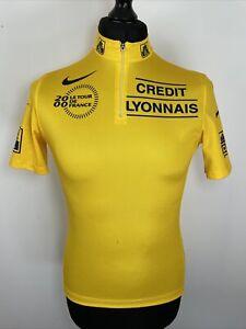Nike 2000 Vintage Le Tour De France Yellow Credit Lyonnais Cycling Jersey M