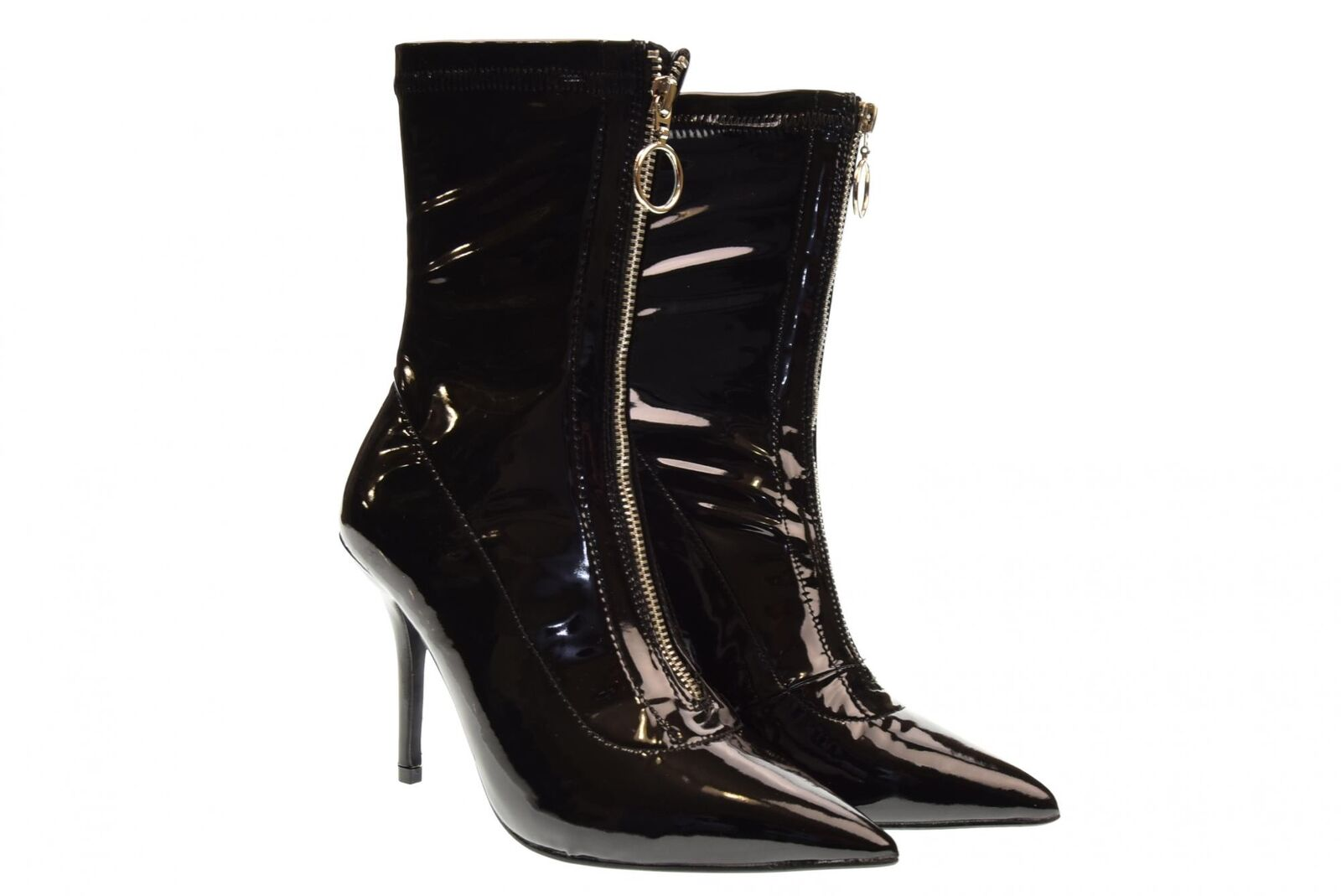 gold&gold A18u shoes woman high heel ankle boots GD05V black