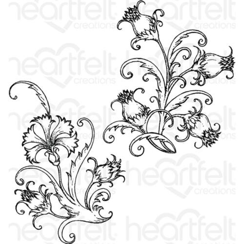 Heartfelt Creations Stamps ~ FANCIFUL CARNATION ~ HCPC3808