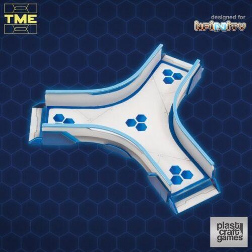Y Connection Walkway Plast Craft Games Gebäude Gelände Infinity 28mm TME
