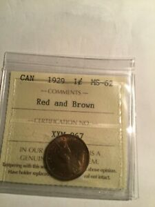 Canada-1929-1c-MS-62-REd-Brown-ICCS