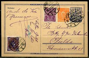 GERMANY-POSTCARD-JANUARY-1923-GREAT-FRANKING
