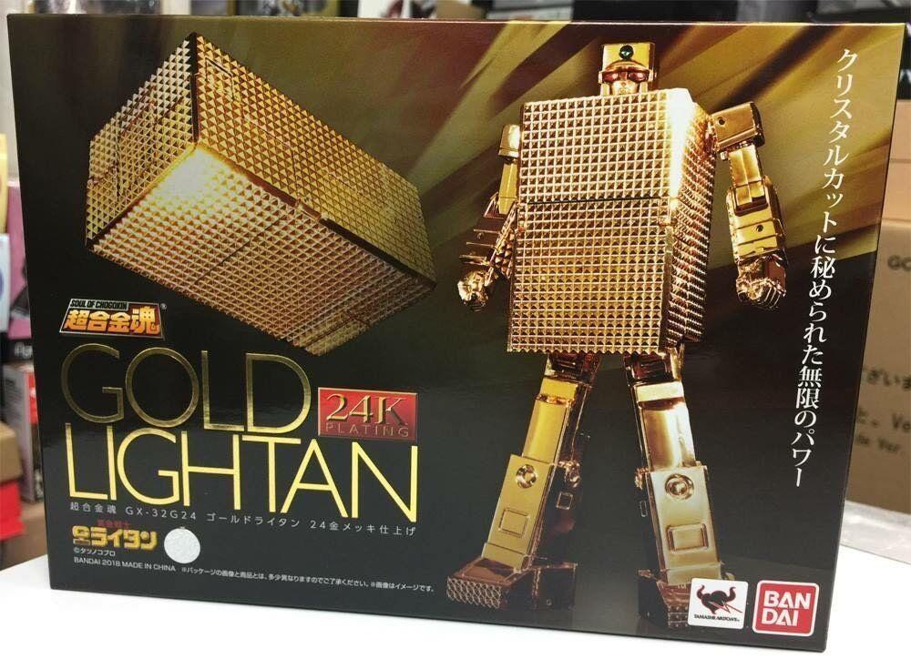 BANDAI SOUL OF CHOGOKIN CHOGOKIN CHOGOKIN GX-32R gold LIGHTAN 24K gold PLATED FINISH 529a2b