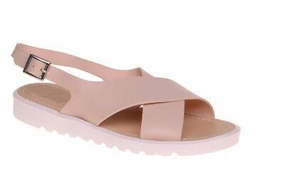 Para Mujer Damas menorquina Correas Peep Toe De Flip Flop Verano Sandalias Zapatos Talla