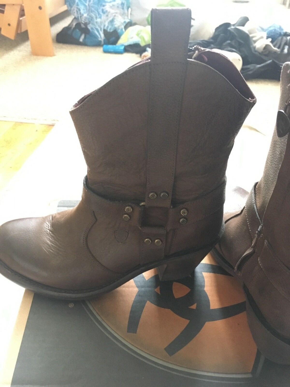 ariat womens coloma boots diesel chocolate brown zippered size 8 B medium
