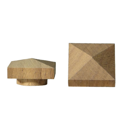 "Walnut Large Low Profile Pyramid Top Hole Plugs fit a 12"" hole"