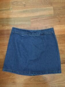 Subtitled-Blue-Denim-A-line-Mini-Skirt