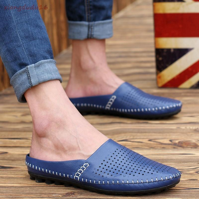 Hot sale  Mens Casual Hollow out Breathable Mules Slide Sand Beach Loafers shoes