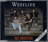 WESTLIFE - HEY WHATEVER / I WON'T LET YOU DOWN 2003 EU ENHANCED CD SINGLE