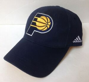 S M (max 7 3 8) adidas INDIANA PACERS HAT Curved bill structured ... 0199d9a6885
