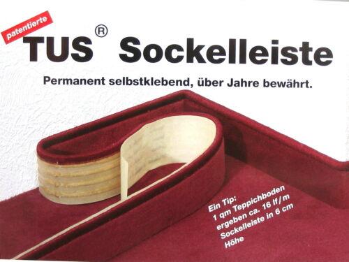 Teppich Sockelleisten 6 cm Höhe selbstklebend Anfertigung aus Ihrem Teppichboden