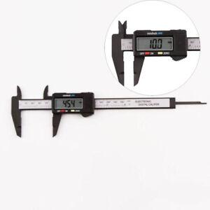 LCD-Digital-Electronic-Carbon-Fiber-Vernier-Caliper-Gauge-Micrometer-Ruler-150mm