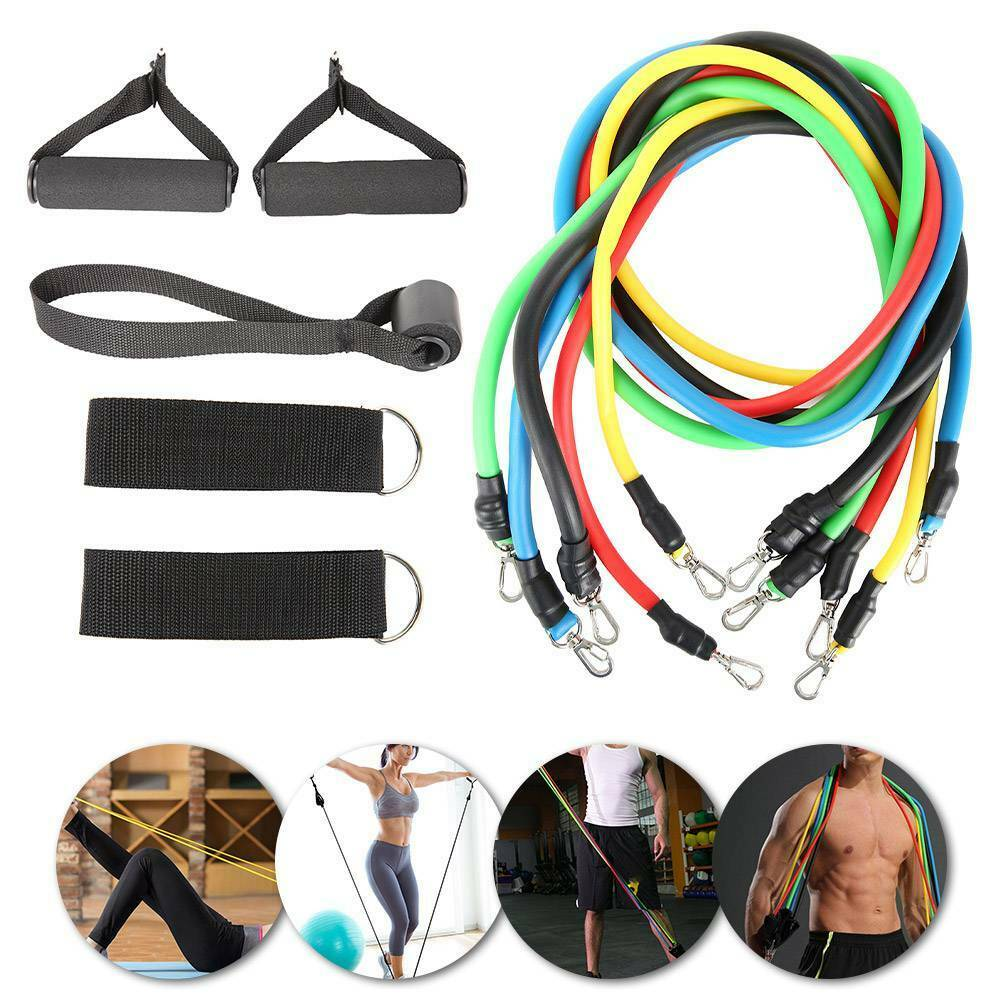 Resistance Bands Workout Exercise Yoga 11Pcs Set Crossfit Fitness Training Tubes 3