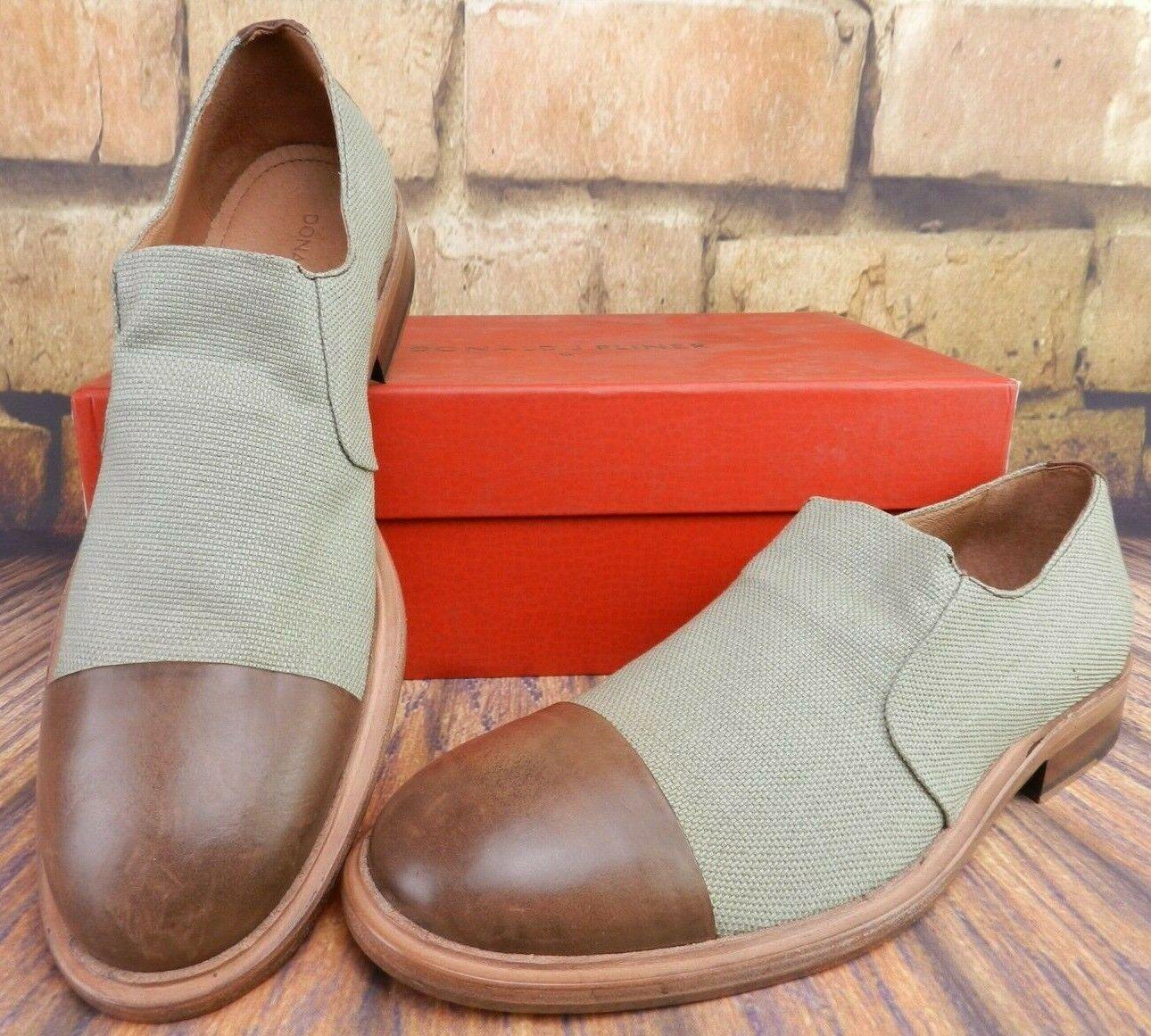 Donald J. Pliner 'Zarro-dl' resbalón en el zapato mocasín Elástico De Lino 9 M verde Menta