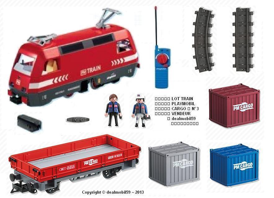 PLAYMOBIL® 4010 BOITE TRAIN LOCO RC Wagon 5258 Accessoire Rail LGB   NEW    3 1E