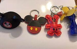 New Disney Parks Water Fan Mickey Mouse Ears Lot Of 4 Keychains Keychain