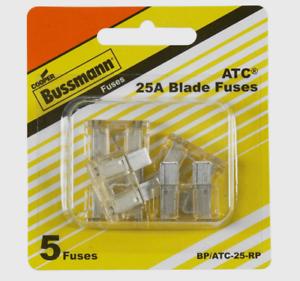 Bussmann-Buss-25-amps-32-volts-ATC-Automotive-0-8-034-Blade-Fuse-5pk-BP-ATC-25-RP