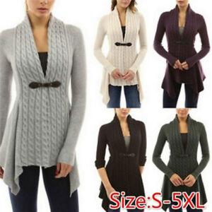 Women-039-s-Fashion-Braid-Cardigan-Knitwear-Sweaters-Autumn-Long-Sleeve-Slim-ZS