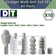 10x Dental Full Set Straight Multi Unit All Parts Regular Platform Top Quality