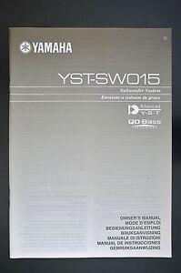 Yamaha yst-sw015 manuals.