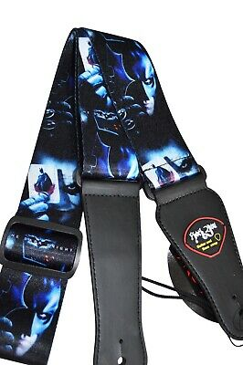Extra Wide Guitar Strap Effect Multi Colour Snake Metal Rainbow bright cool gift
