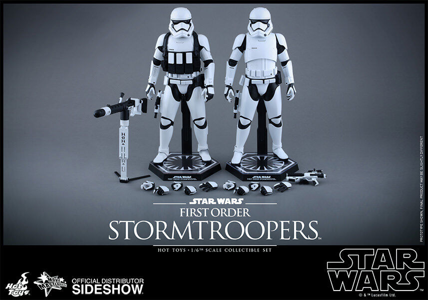 Star Wars The Force Awakens 12 Inch MMS First Order Stormtrooper Set Hot Toys