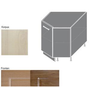 eck unterschrank küchenschrank schrank 90x90cm 1-türig (gl