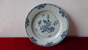 Antique-chinese-export-porcelain-plate-XVIIIth-C-Ancienne-Assiette-Chine-F