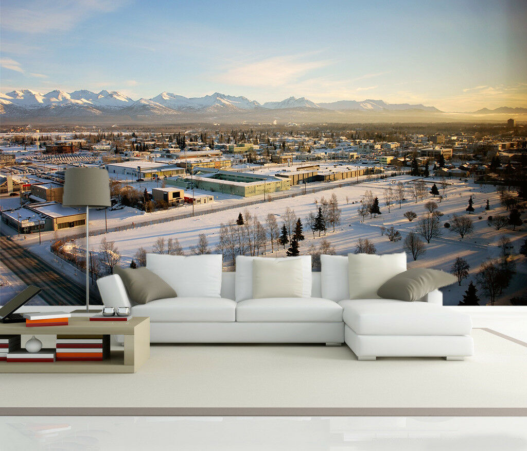 3D Himmel Haus Schnee 59 Tapete Tapeten Mauer Foto Familie Tapete Wandgemälde DE