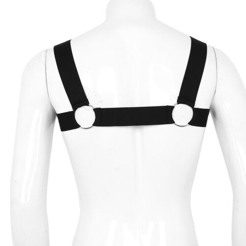 Mens Body Chest Harness Nylon Lingerie Underwear Underwear O-rings Costume Belts