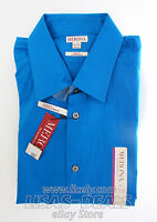 Mens Merona Shirt Tailored Collection Slim Fit Long Sleeve Top Blue L